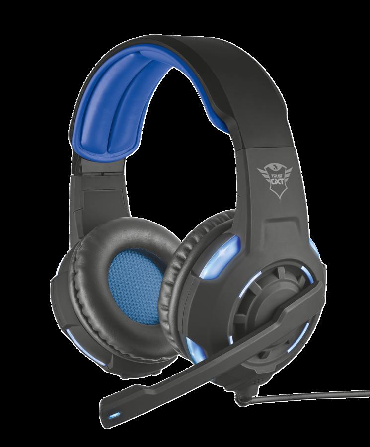 TRUST GXT 350 Radius 7.1 bass headset black-blue