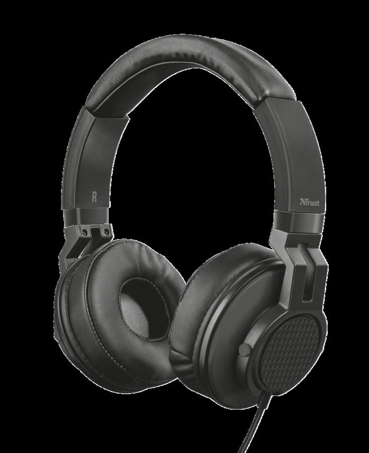 TRUST DJ Headphone náhlavní sada black