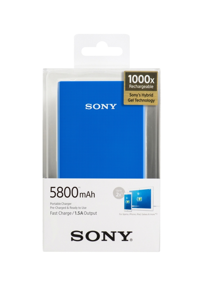 Powerbank Sony CP-E6BL 5800mAh, blue