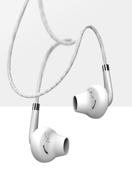 USAMS EP-14 In-Ear Stereo Headset 3.5mm white