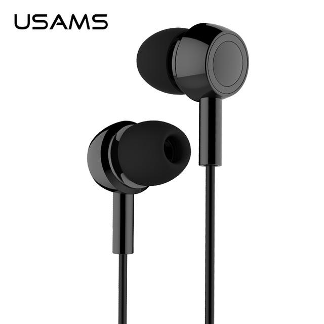USAMS EP-12 Stereo Headset in Ear 3.5mm black