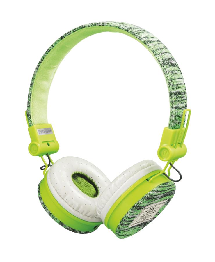 TRUST Urban Fyber sluchátka sport green