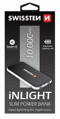 PowerBank SWISSTEN iNlight 10000mAh, black