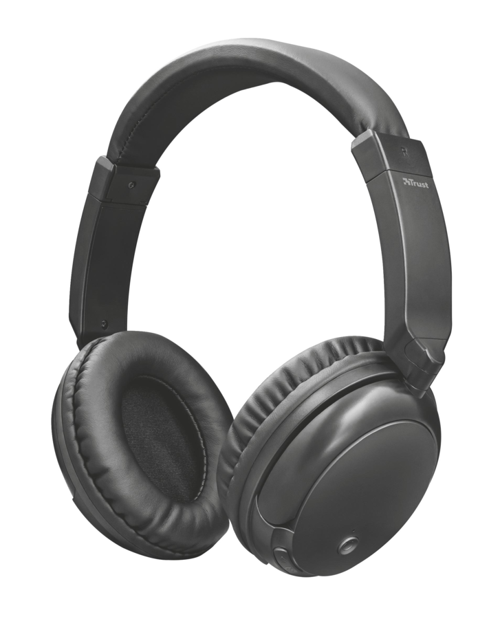 TRUST Kodo Wirelles Headphones black metalic