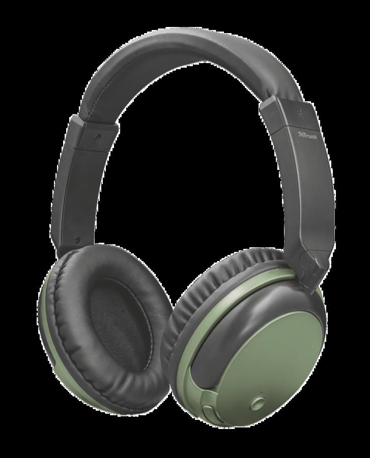TRUST Kodo Wirelles Headphones olive metalic