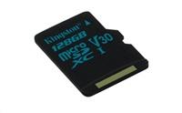 Paměťová karta KINGSTON Canvas Go Card 90R, 128GB Micro SDXC, class 10, UHS-I