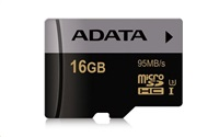 Paměťová karta ADATA Premier Pro 16GB microSDHC, class 10, UHS-I U3