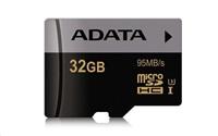 Paměťová karta ADATA Premier Pro 32GB microSDHC, class 10, UHS-I U3 s adaptérem