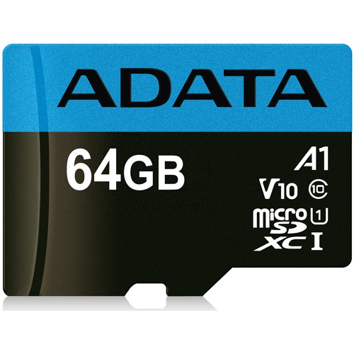 Paměťová karta ADATA 64GB microSDXC, class 10, UHS-1