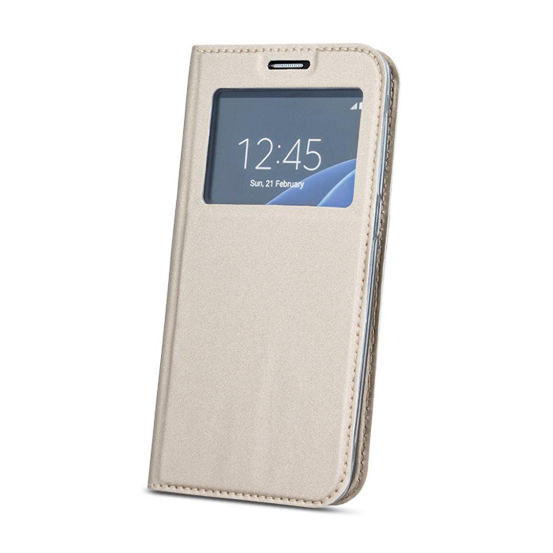 Flipové pouzdro Smart View pro Huawei P9 Lite Mini gold