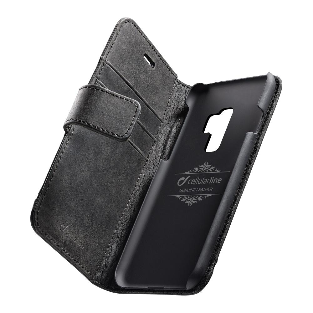 Cellularline Supreme pouzdro flip Samsung Galaxy S9 Plus black