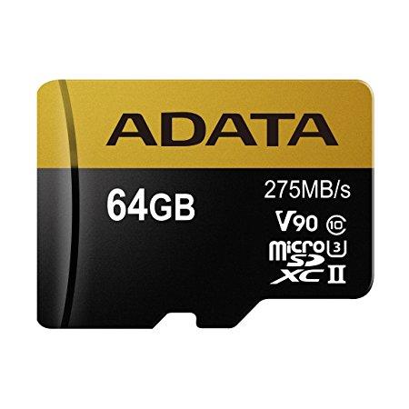 Paměťová karta ADATA 64GB MicroSDXC, class 10, UHS-II U3 s adaptérem
