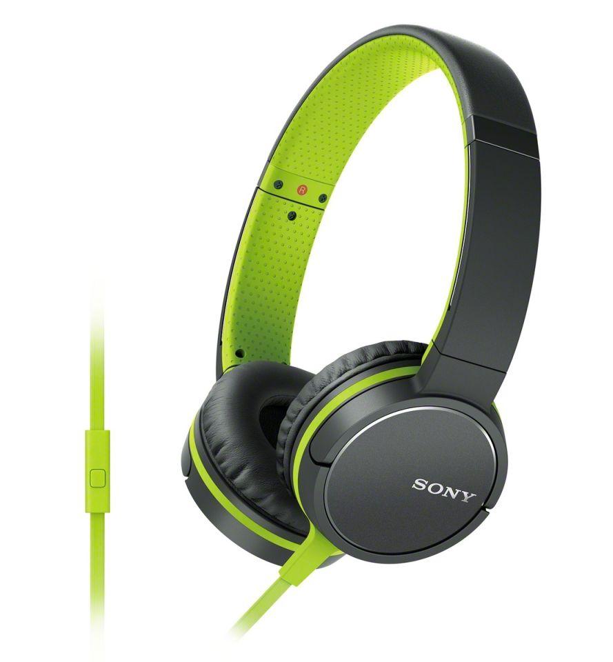 Sluchátka SONY MDR-ZX660AP, handsfree, zelené