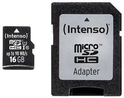 Paměťová karta Intenso 16GB microSDHC PRO, class 10, UHS-I s adaptérem