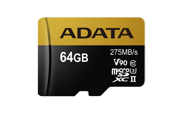 Paměťová karta ADATA 64GB Premier One microSDXC, UHS-II U3 CL10 s adaptérem