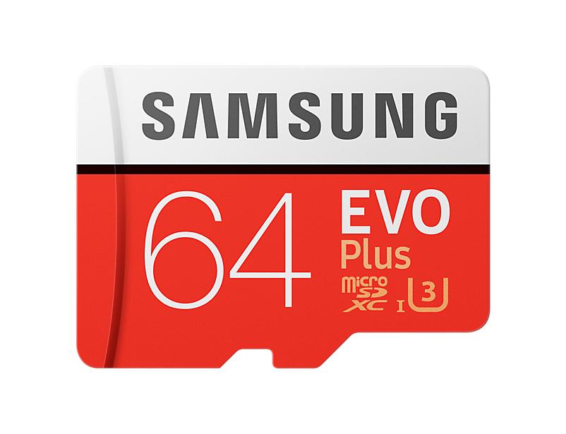 Paměťová karta Samsung 64GB EVO Plus microSDXC, UHS-I U3 s daptérem