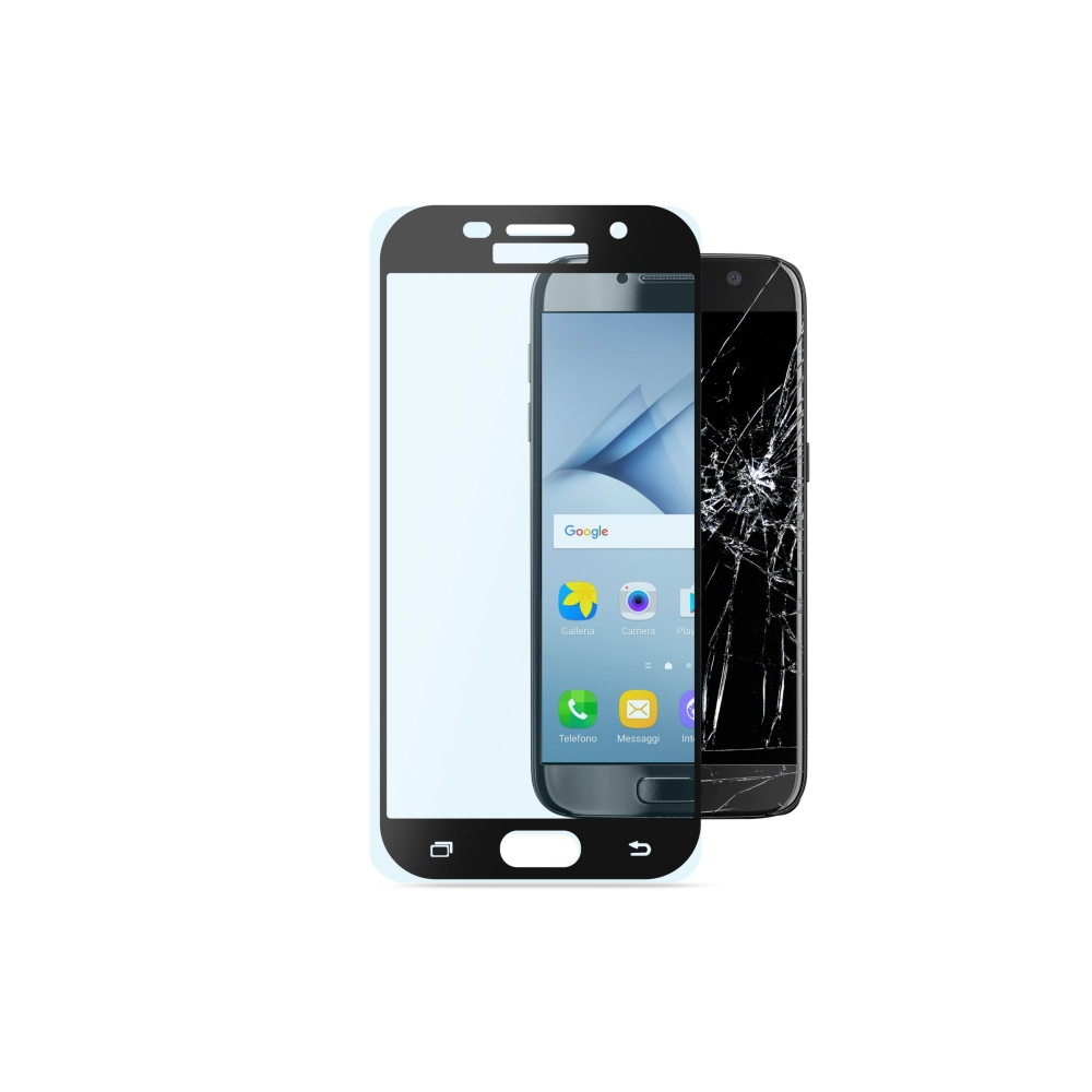 Tvrzené sklo CellularLine CAPSULE pro Samsung Galaxy A3 (2017), black