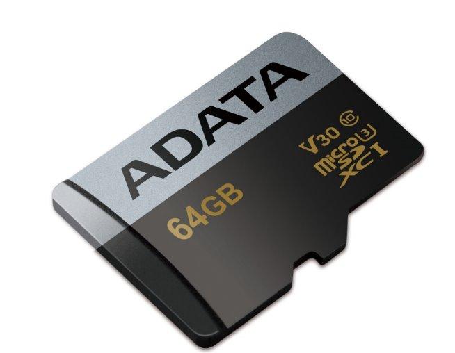 Paměťová karta ADATA 64GB Premier Pro microSDXC, UHS-I U3, V30G