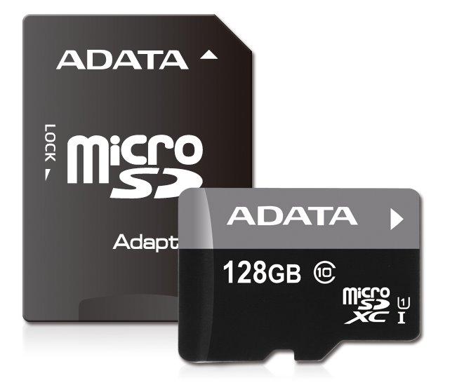 Paměťová karta ADATA Premier 128GB microSDXC, UHS-I CL10 A1 s adaptérem