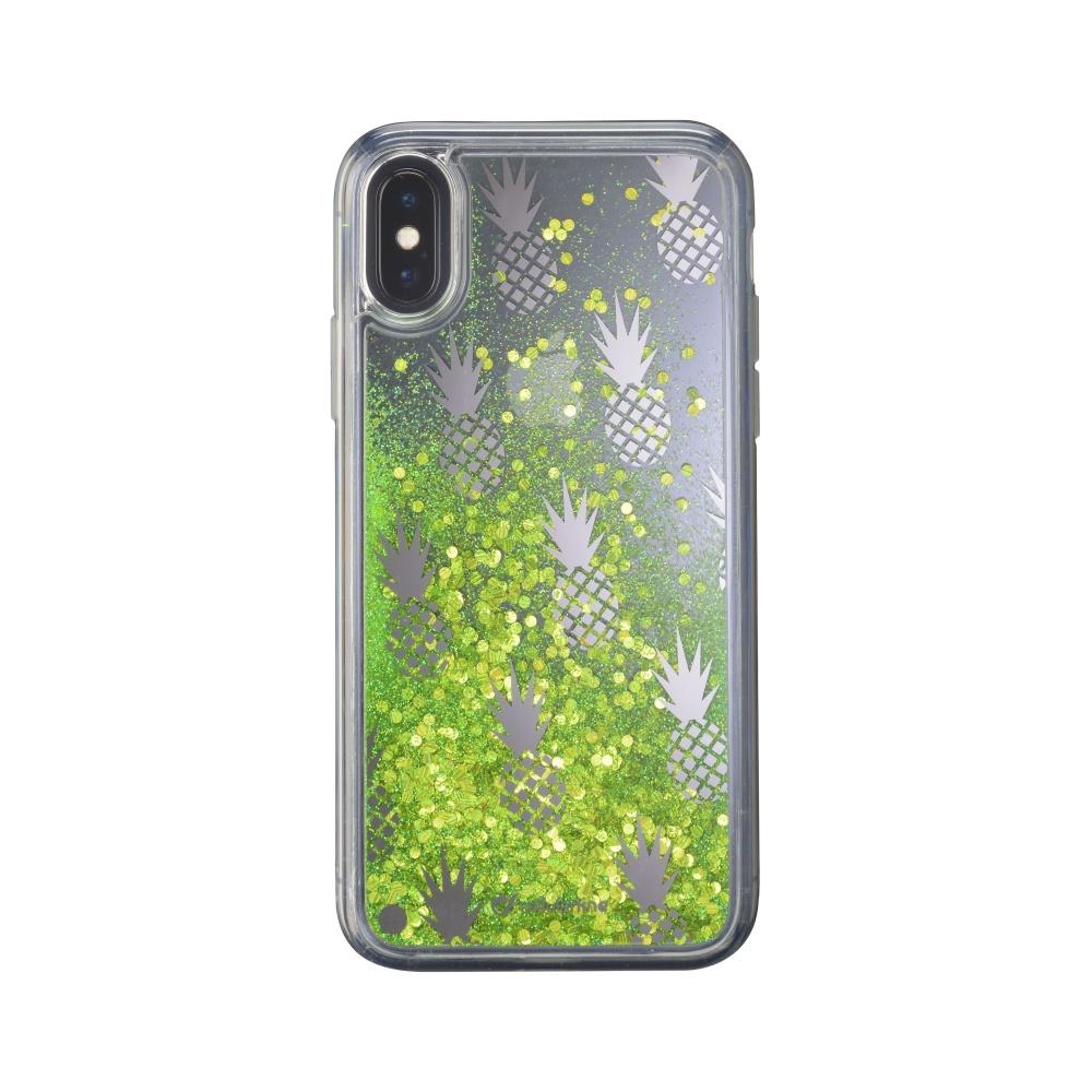 Gelové pouzdro Cellularline Stardust pro Apple iPhone X, motiv Pineapple
