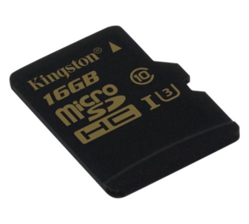 Paměťová karta Kingston microSDHC 16GB, UHS-I U3, class 10 (BLISTR)