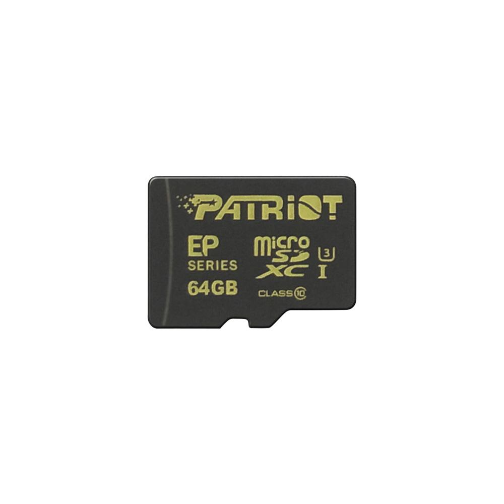 Paměťová karta PATRIOT 64GB microSDXC, class 10, UHS-I U3