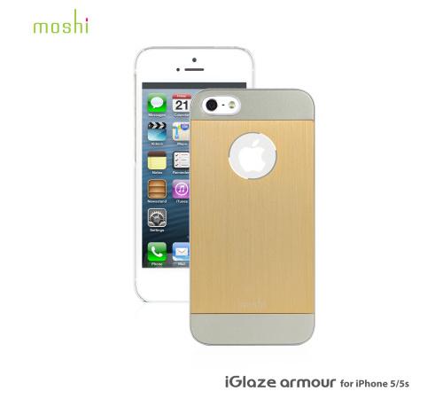 Kryt Moshi iGlaze Armour Metal pro Apple iPhone 5, 5S, SE, Gold/zlatá