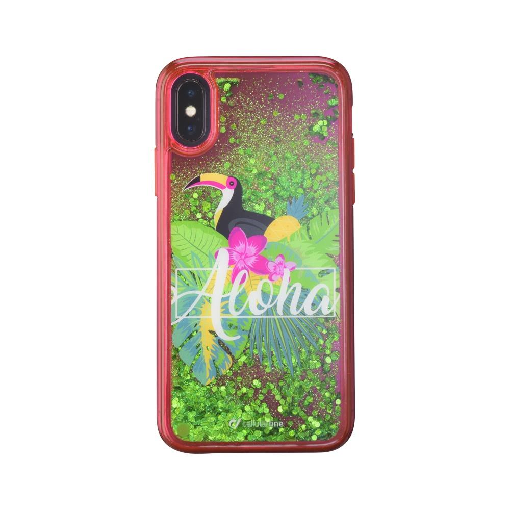 Gelové pouzdro Cellularline Stardust pro Apple iPhone X, motiv Aloha