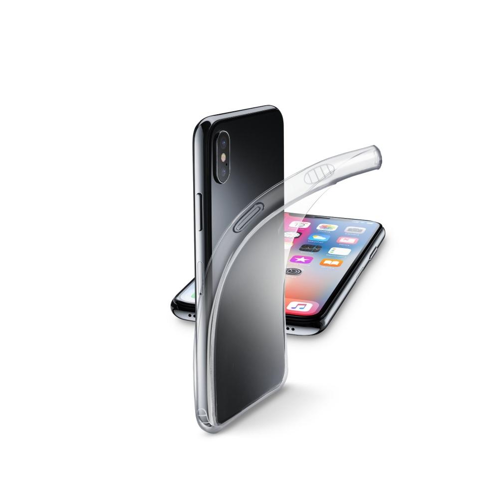 Extratenký zadní kryt CellularLine Fine pro Apple iPhone X, bezbarvý