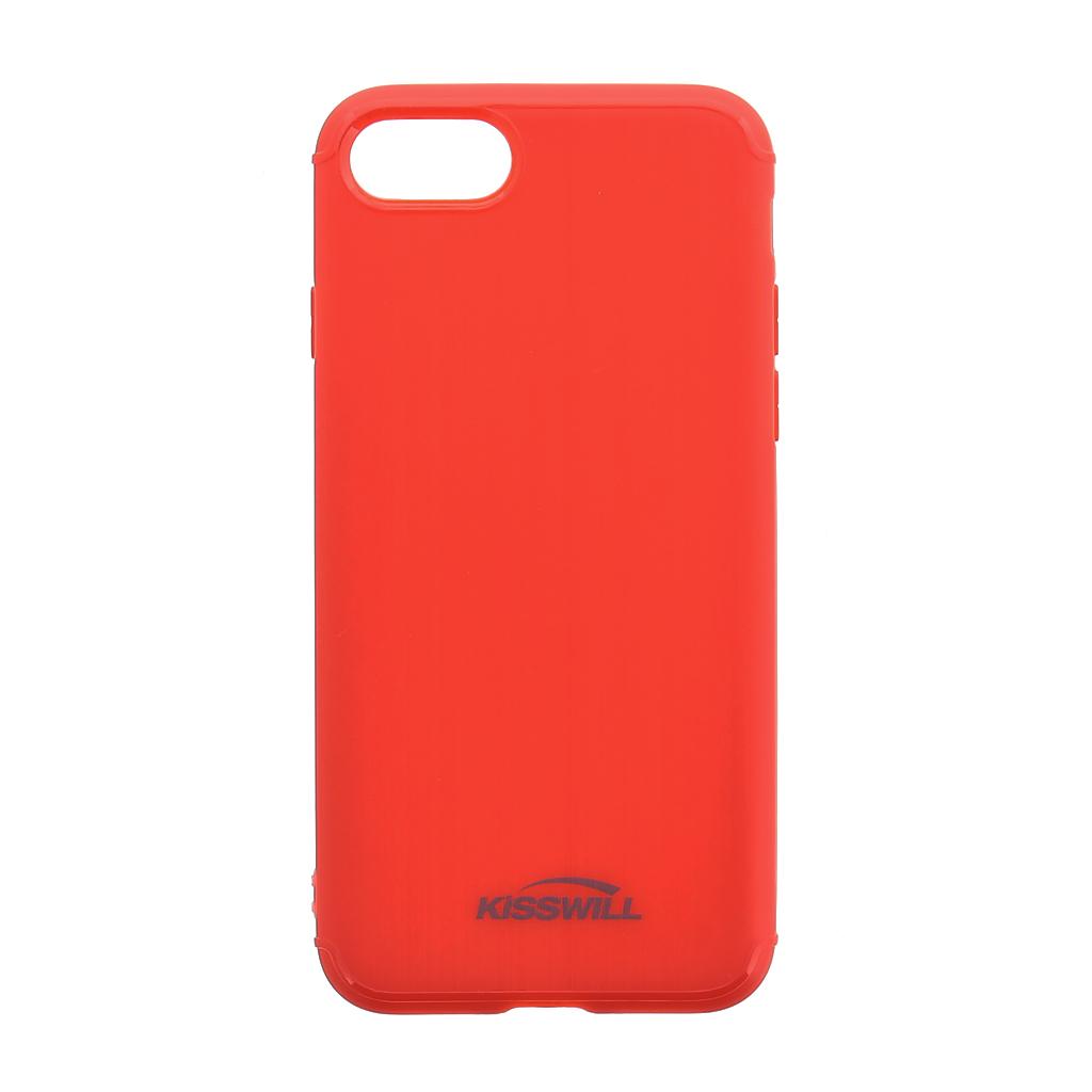 Silikonové pouzdro Kisswill Brushed pro Apple iPhone 6/6S Red