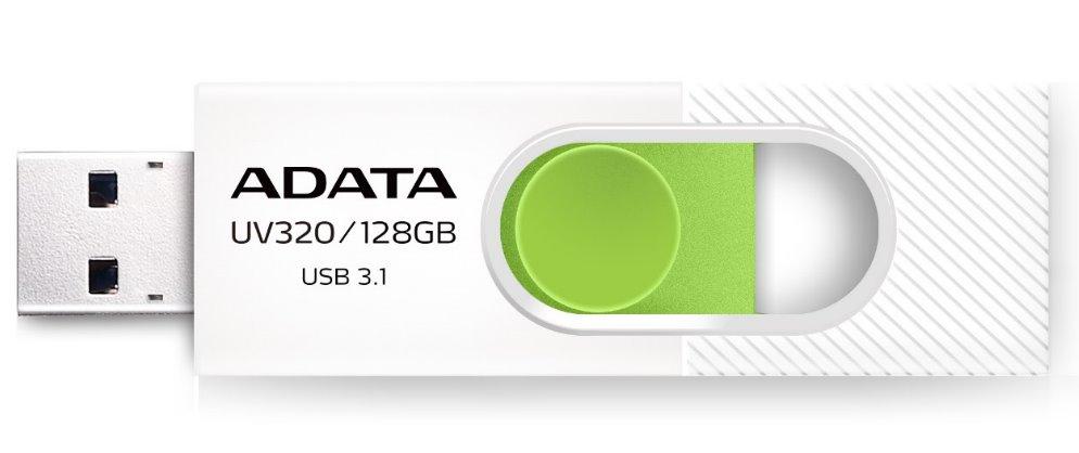 Flash disk ADATA UV320 128GB USB 3.1, white - green