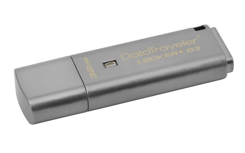 Flash disk Kingston 32GB DT Locker+ G3 šifrovaný USB 3.0, grey