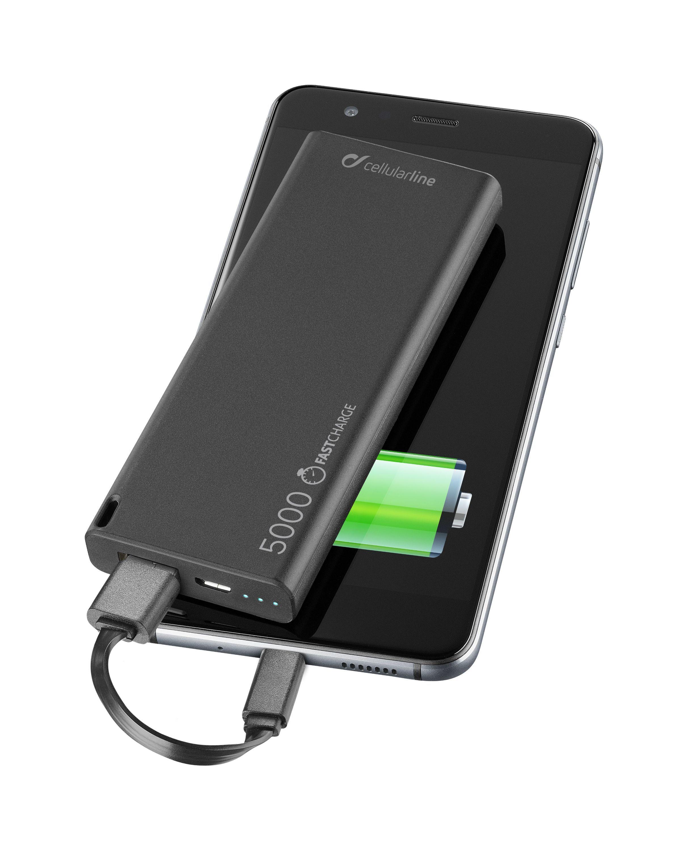 Powerbanka CellularLine FreePower Slim 5000mAh černá FREEPSLIM5000K