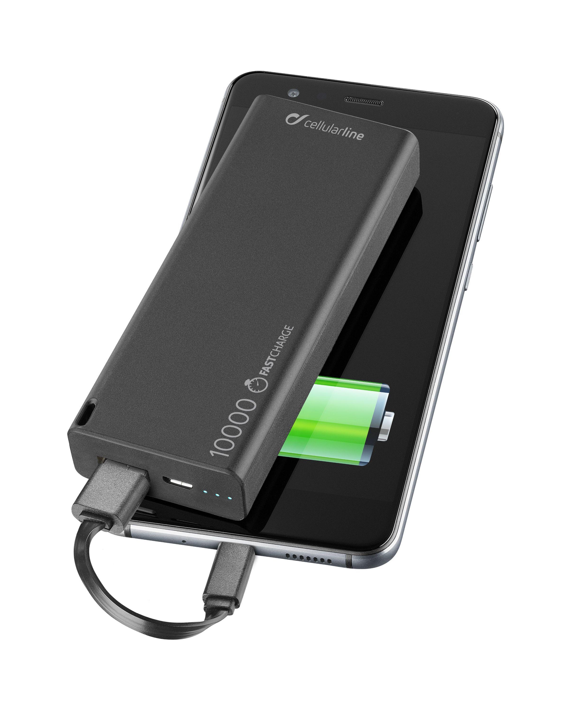 Powerbanka CellularLine FreePower Slim 10000mAh černá FREEPSLIM10000K