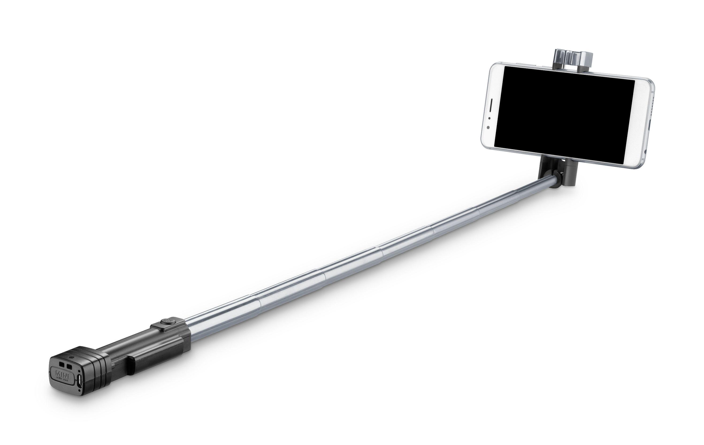 Kompaktní selfie tyč CellularLine Compact, black