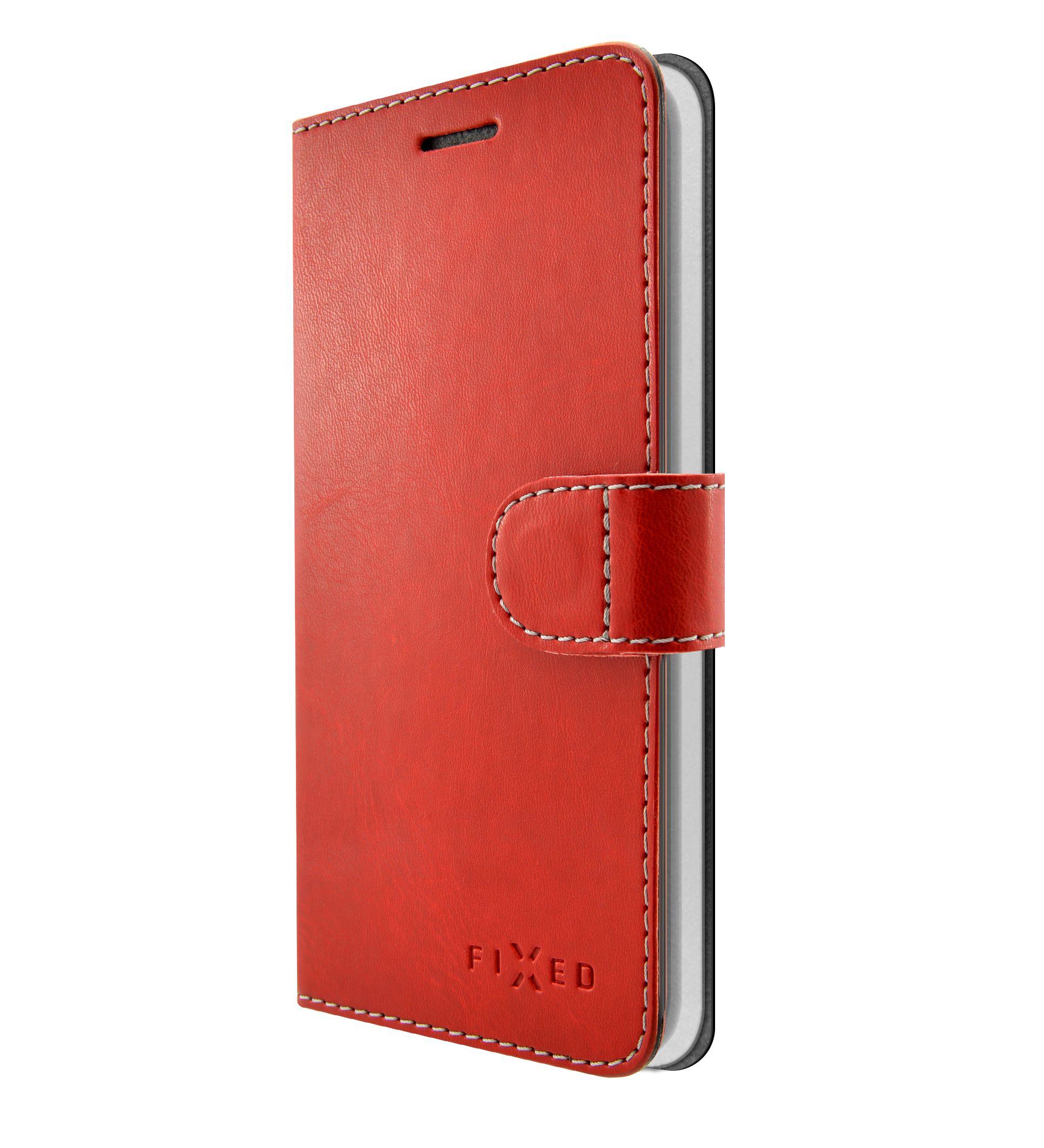 Flipové pouzdro FIXED FIT pro Huawei Y7 Prime (2018), červené