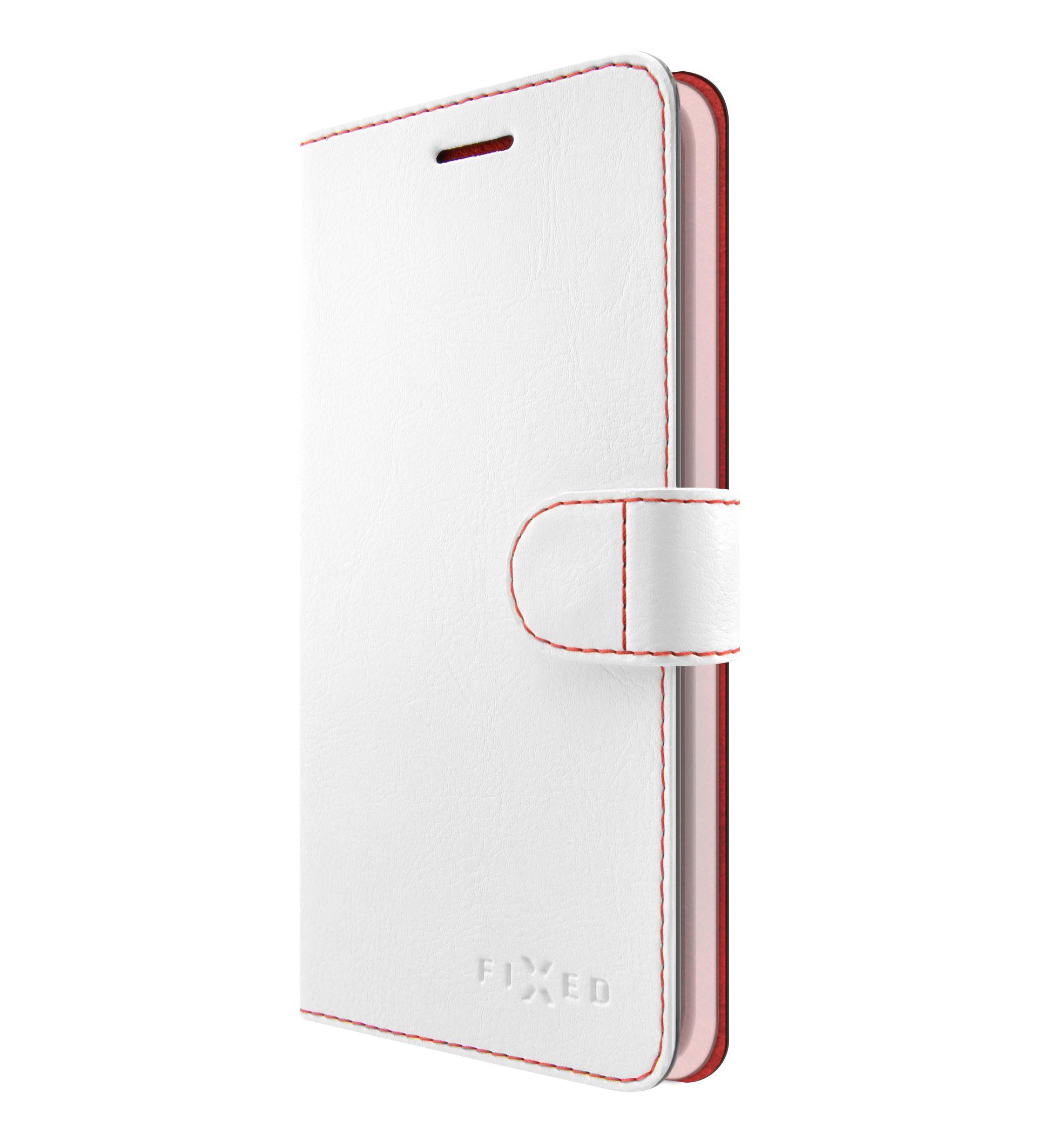 Flipové pouzdro FIXED FIT pro Huawei Y7 Prime (2018), bílé