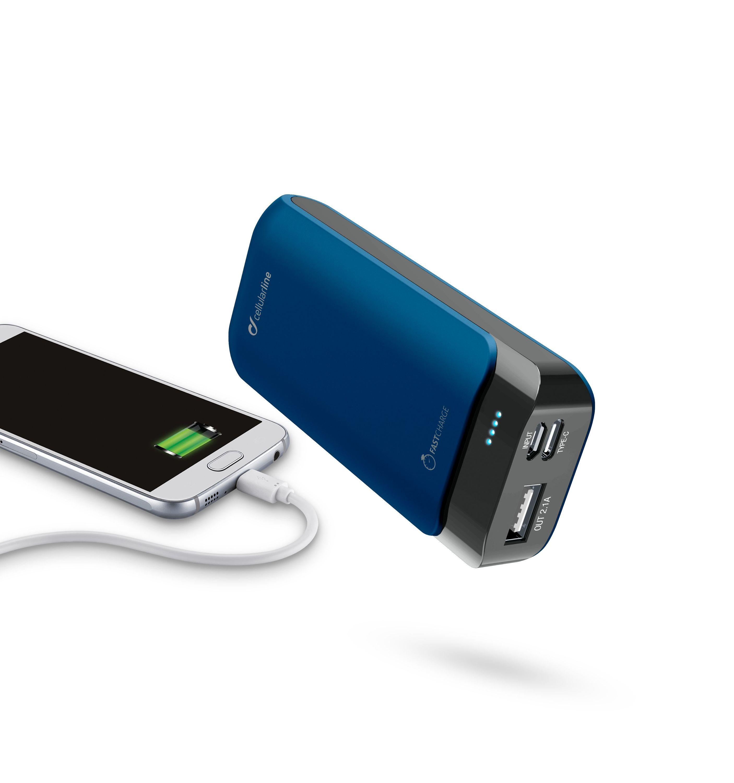 Powerbanka CellularLine PowerUp 5200mAh modrá