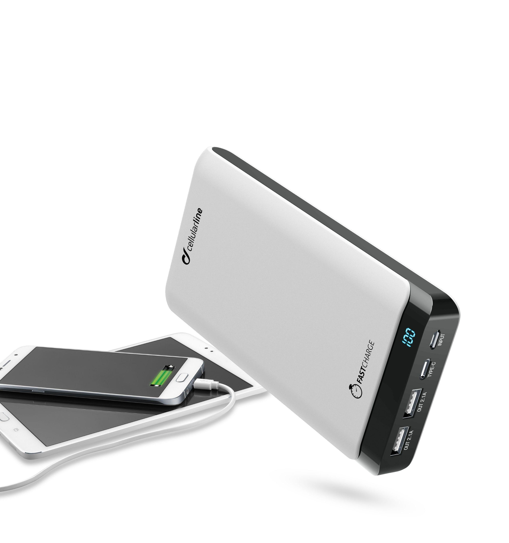 Powerbanka CellularLine PowerUp 20000mAh bílá
