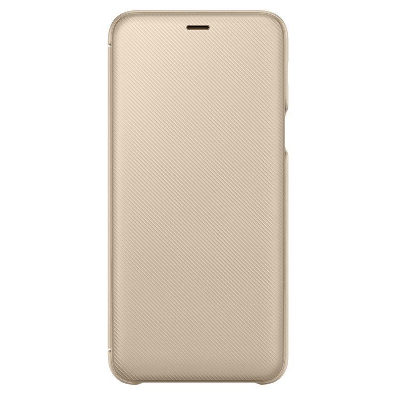 Samsung pouzdro flip EF-WA605CFE pro Samsung Galaxy A6 Plus 2018 (EU Blister), gold/zlatá