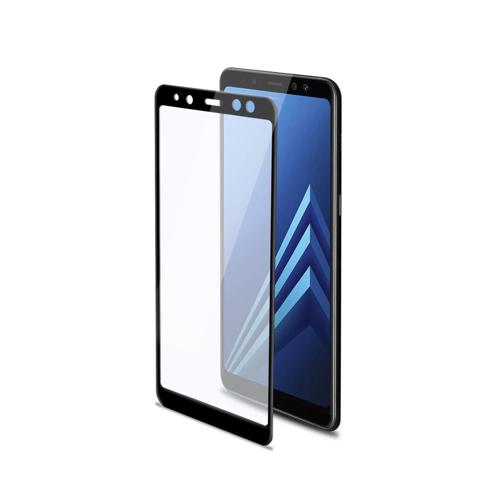 Tvrzené sklo Celly Full Glass pro Samsung Galaxy A8 černé