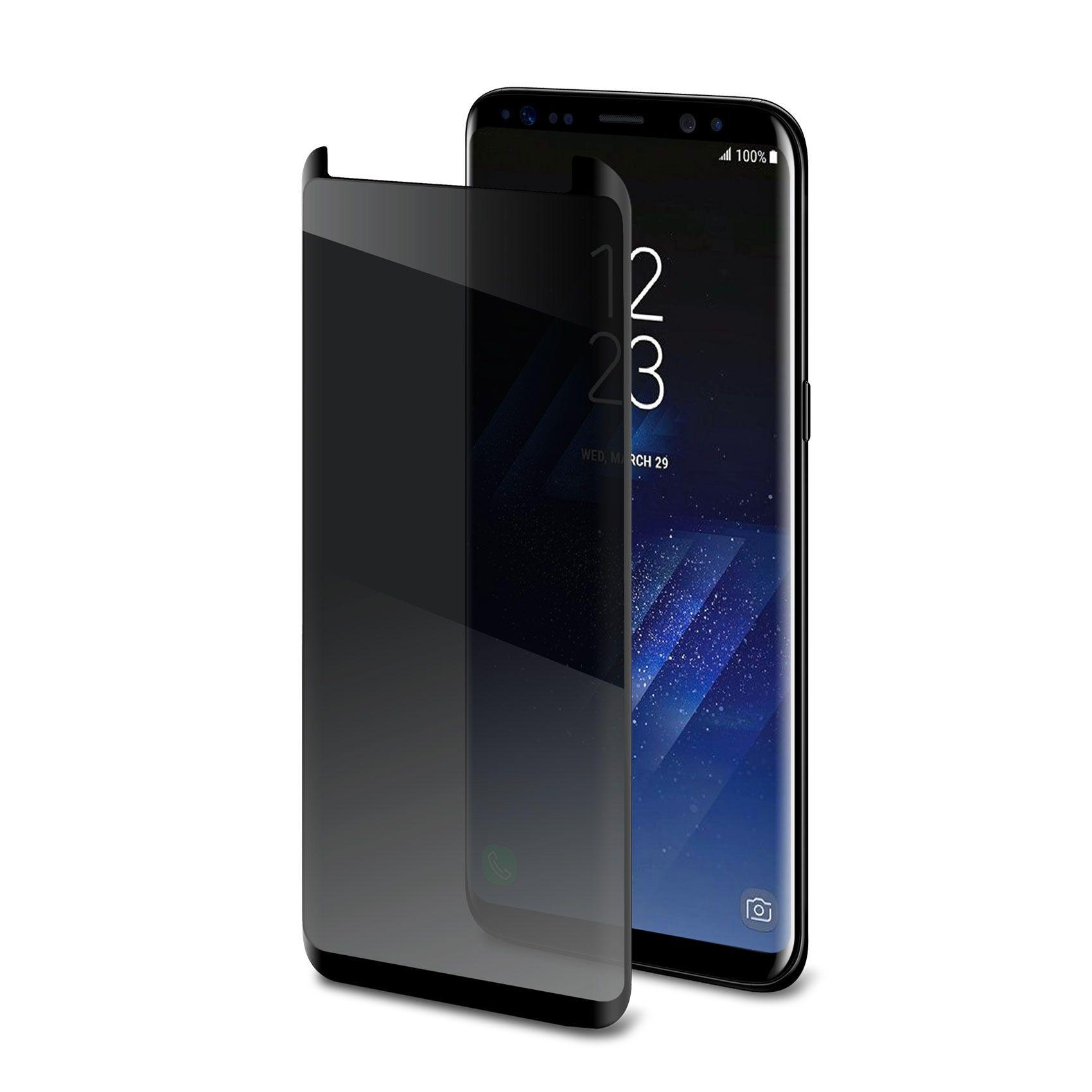 Tvrzené sklo Celly Privacy 3D pro Samsung Galaxy S8 černé