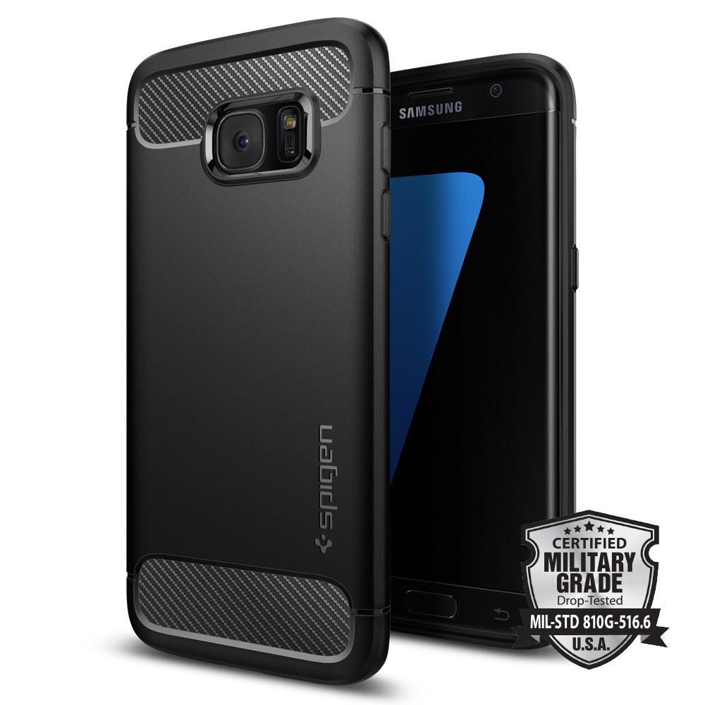 Kryt na mobil Spigen Rugged Armor pro Samsung Galaxy S7 Edge černá