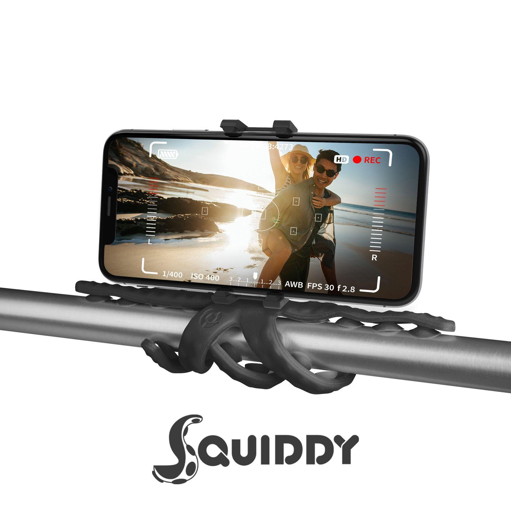 Flexibilní držák s přísavkami Celly Squiddy černý