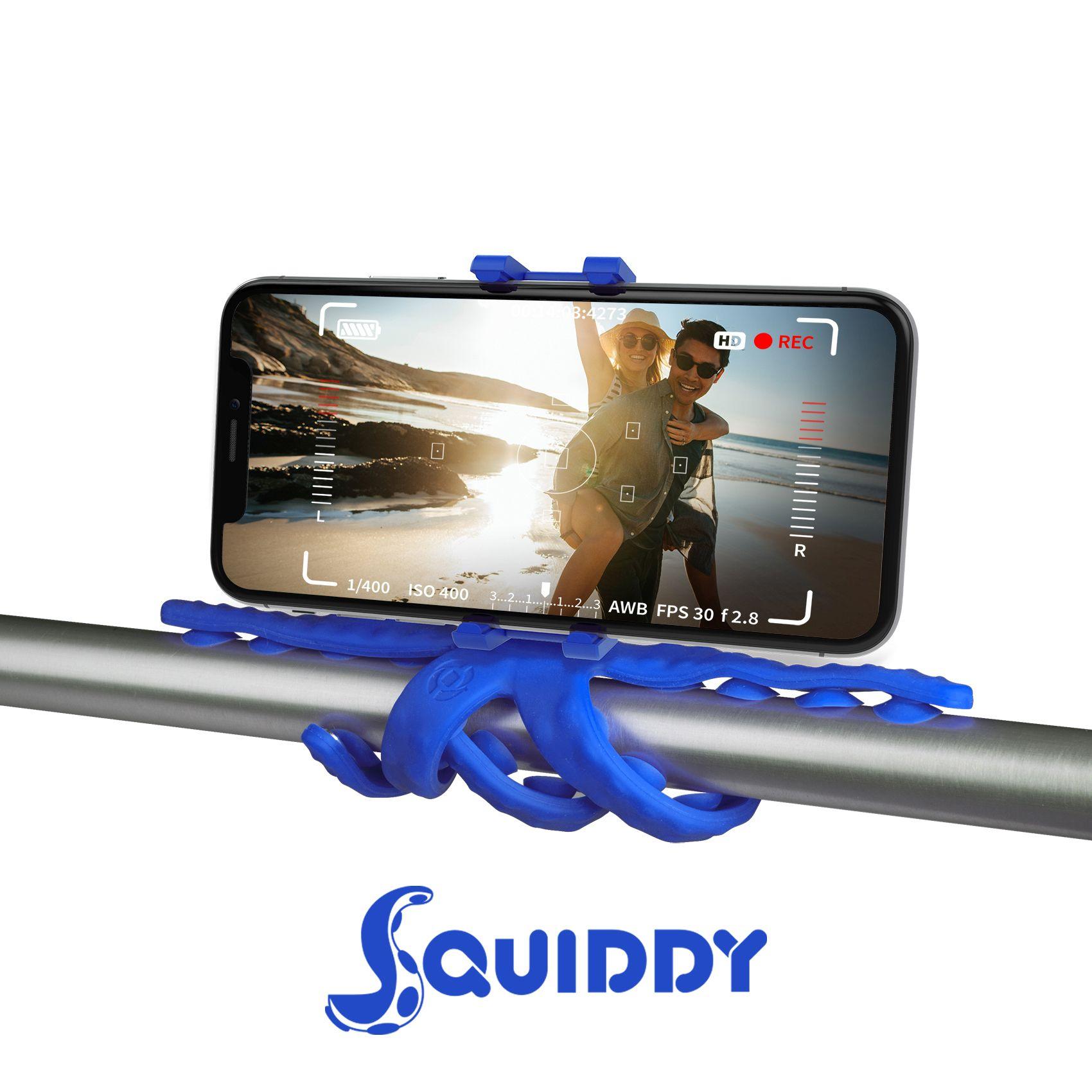 Flexibilní držák s přísavkami Celly Squiddy modrý