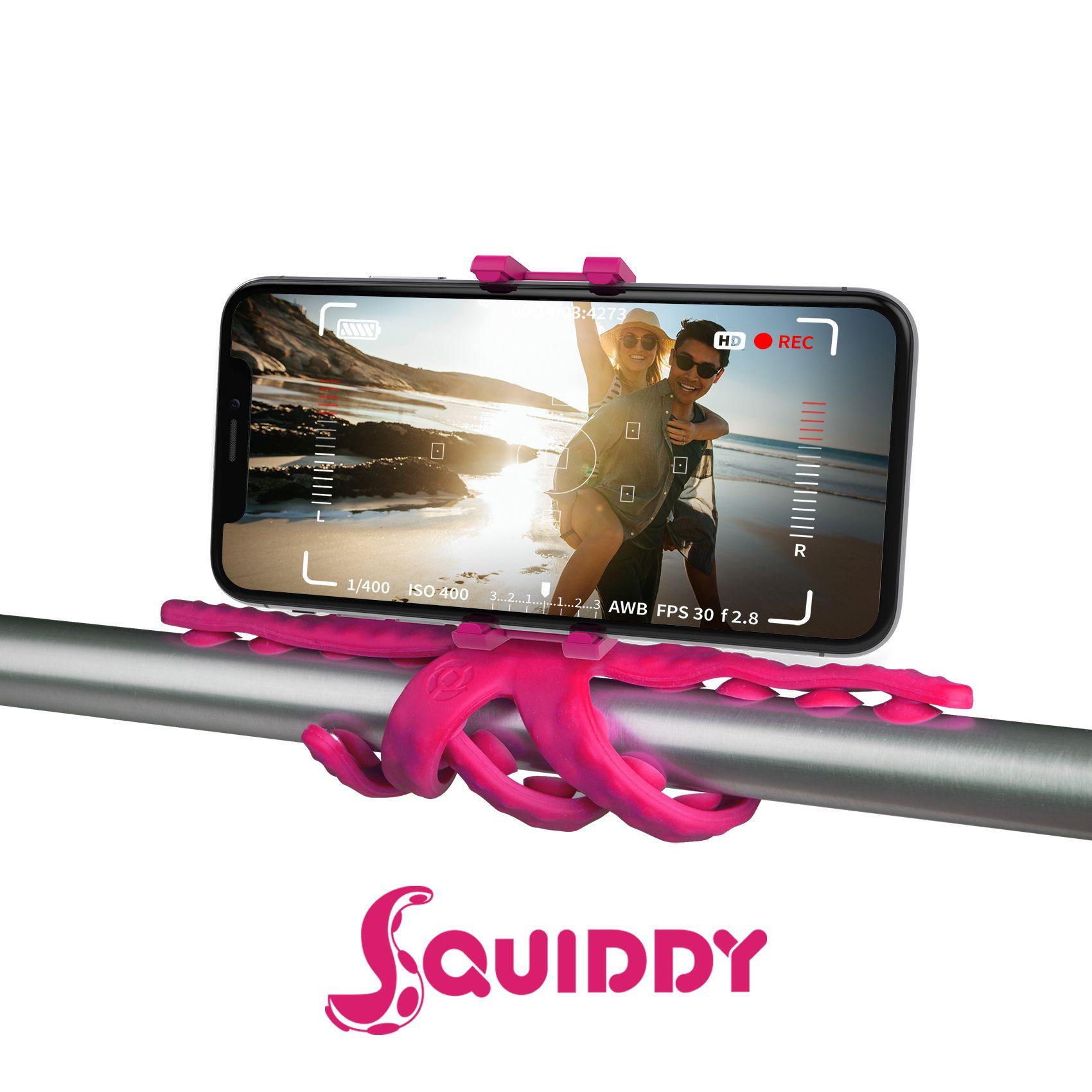 Flexibilní držák s přísavkami Celly Squiddy růžový