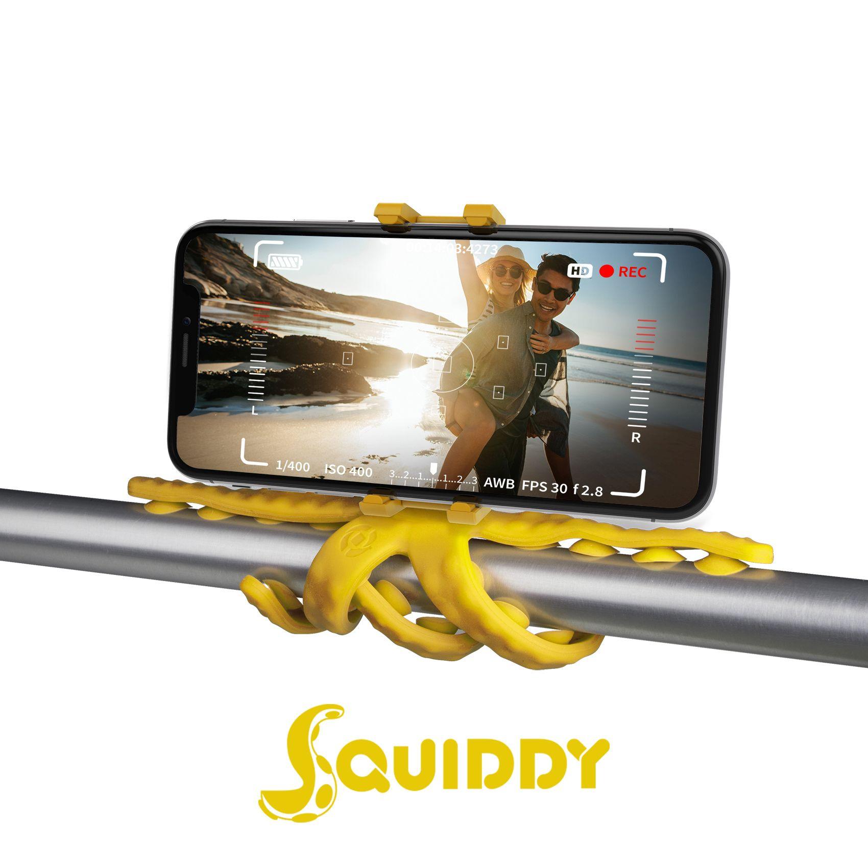 Flexibilní držák s přísavkami Celly Squiddy žlutý