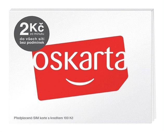 OSKARTA předplacená SIM karta s kreditem 100 Kč