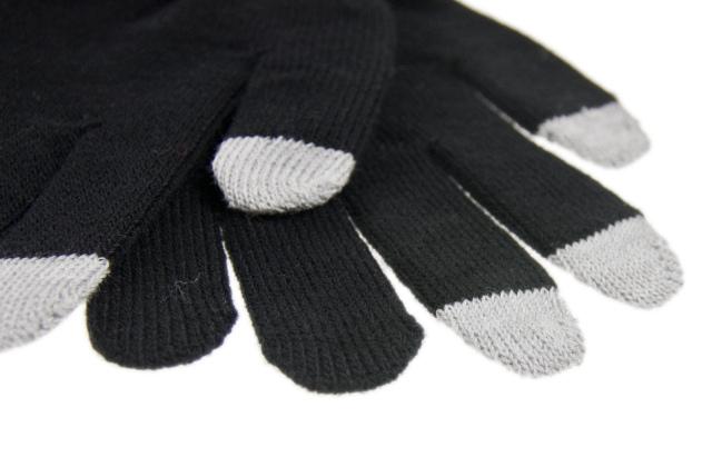Dotykové rukavice pánské pro smartphony černé