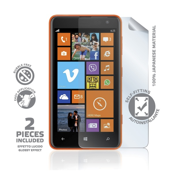 Prémiová ochranná fólie displeje CELLY pro Nokia Lumia 625, lesklá, 2ks